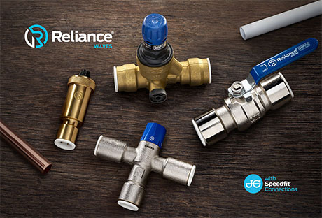 Introducing the all new Reliance Valves' push-fit range with JG Speedfit technology